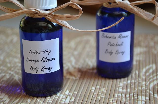 The Tasty Alternative: How To Make Homemade Body Spray. Use vegetable glycerin to last longer. 1. Minty Citrus Twist. Combine 4 drops Peppermint essential oil + 4 drops Wild Orange essential oil + 1 Tablespoon real vanilla extract in 8 oz of water.