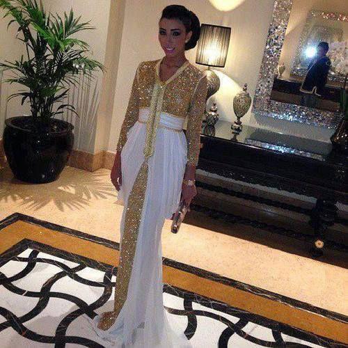 Goedkope 2015 lente nieuwe pailletten jurk dubai kaftan formele avondjurken abaya in dubai met witte trein kaftan jurk Marokkaanse kaftan, koop Kwaliteit Avondjurken rechtstreeks van Leveranciers van China:  welkom bij mr. zhu bruiloft en evenementen jurken co., ltdwij zijn een professionele trouwjurken productie-fabrie