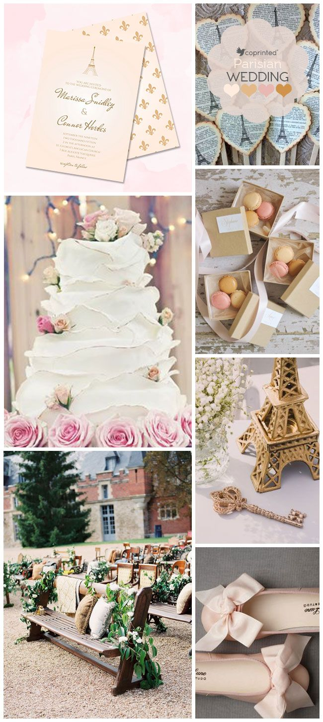 destination wedding intimation with a Paris theme