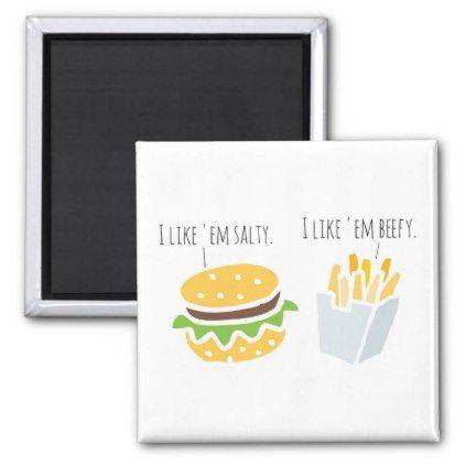 Fast Food Flirting Magnet - humor funny fun humour humorous gift idea