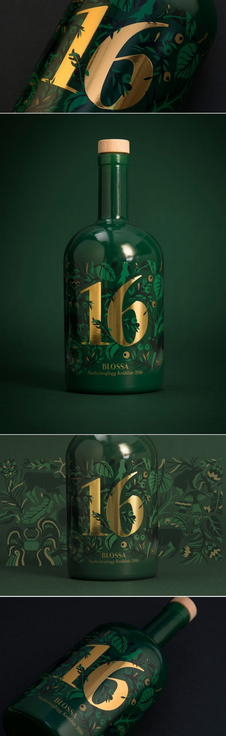 Blossa Annual 2016 Glögg Mulled Wine — The Dieline - Branding & Packaging Design