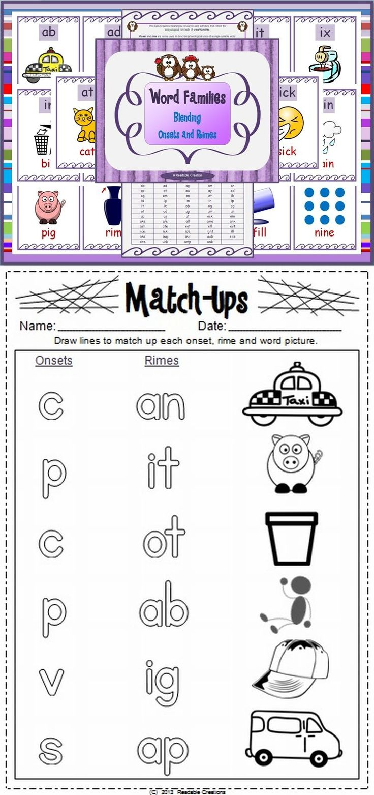 217 best centers word families images on pinterest kindergarten teaching about onset and rime word families helps students recognize common chunks within words robcynllc Choice Image