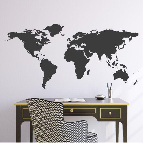 World Map Wall Vinyl Decal