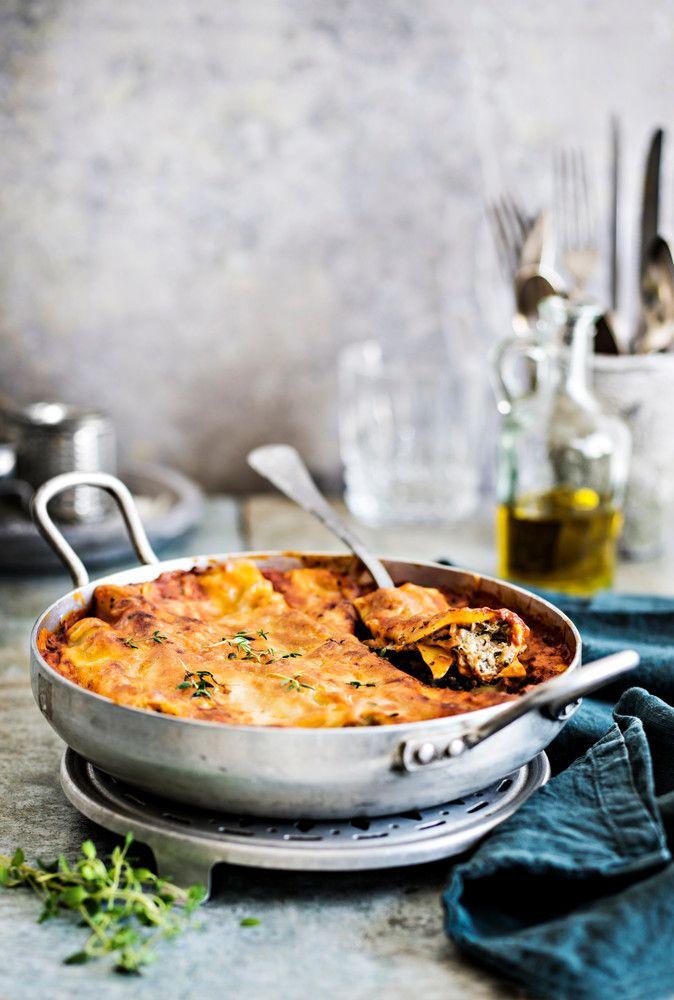Pinaatti-tonnikalacannelonit   K-Ruoka #pasta