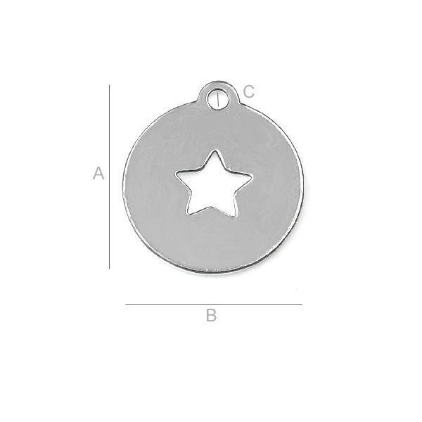 Ozdobna okrągła blaszka - LK-0043 - SILVEXCRAFT - Półprodukty