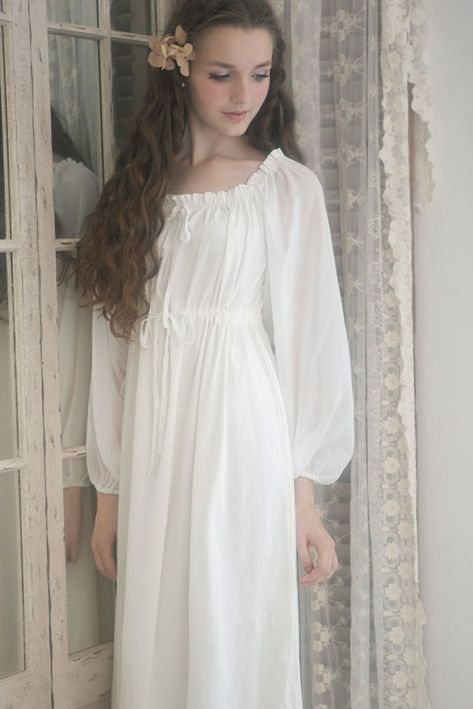 53a490066b Vintage White Cotton Nightgowns | lovely , soft . One of my 1st choices for  my burial . | women's | Night gown, Chemise dress, Cotton gowns