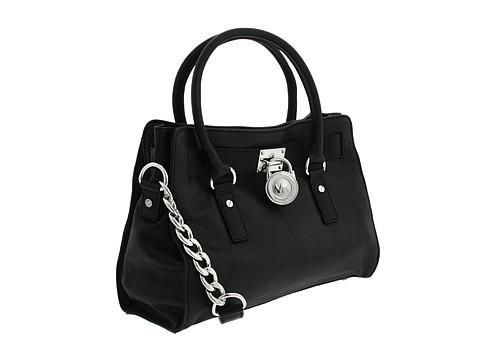 MICHAEL Michael Kors Hamilton East/West Satchel Satchel Handbags - Black