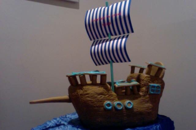 Pirate Ship for 5th Birthday