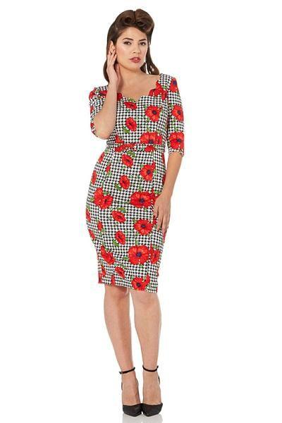 Eloise Dress, Rød/hvit