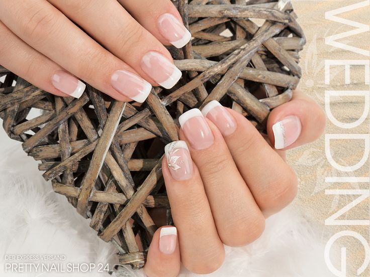 #wedding #nails #nailart #white Schlicht & elegant - dezent, aber ein Hingucker! Der perfekte Look für eine romantische Hochzeit, oder? Eure Annika