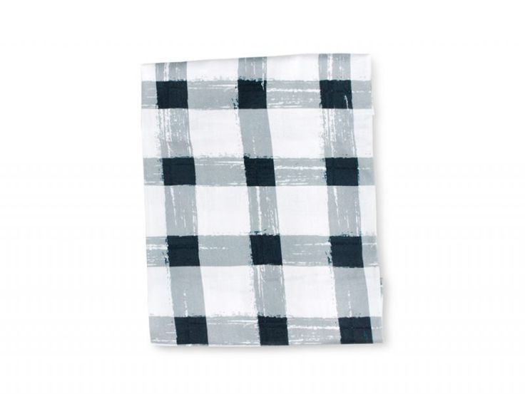 Grey Gingham Fitted Sheet | Sack Me