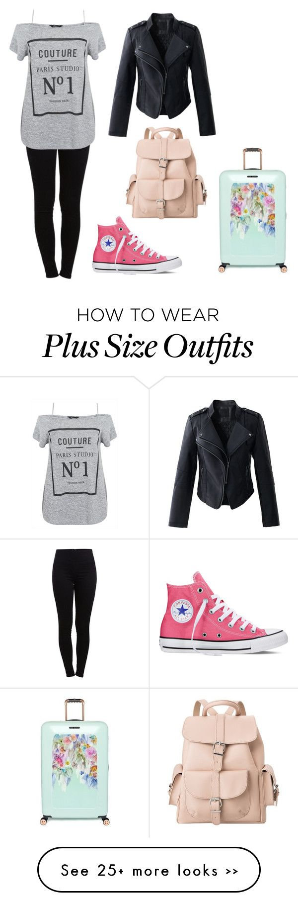 """Untitled #1706"" by aliciabadrick on Polyvore featuring moda, Pieces, Converse, Chicwish, MANGO y Ted Baker"