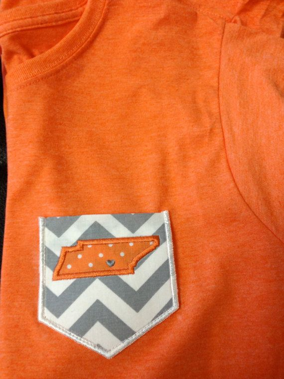 Tennessee Vols pocket tee  State of TN by SouthernCharms1 on Etsy, $16.99