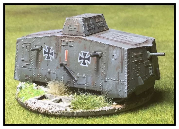 Gaming from the cupboard: Earliest Panzers - A7V tanks, 15mm Plastic Soldier Company