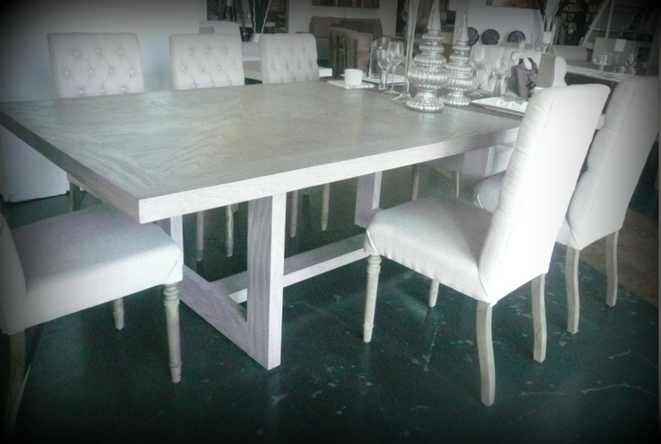sillas capitoneadas en lino estilo vintage pinterest Ashley Furniture Light Grey Dining Room Table with Bench and Chairs