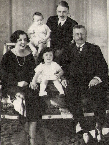 The Grimaldi Family:  Princess Charlotte, Prince Rainier, Princess Antoinette, Prince Pierre and Sovereign Prince Louis II of Monaco.