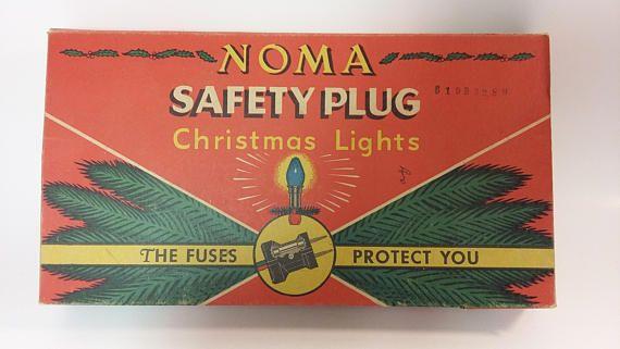 Vintage Noma Christmas Light Box Safety Plug