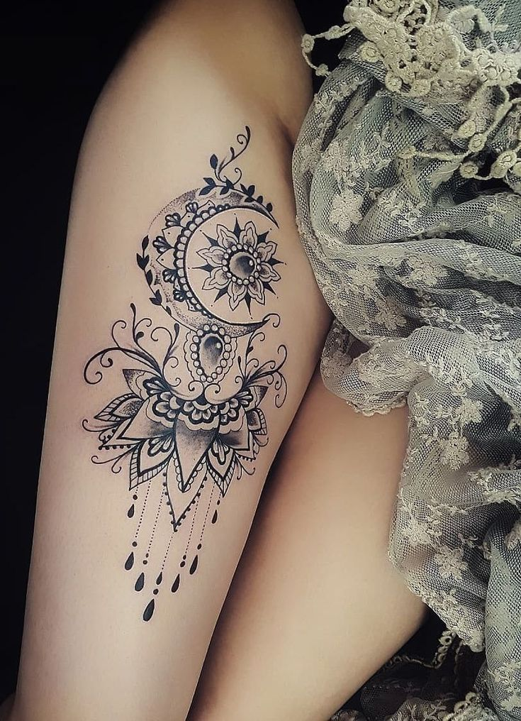 Celebrate the femininity with 50 of the most beautiful lace tattoos you have ever seen … # Tattoos #All