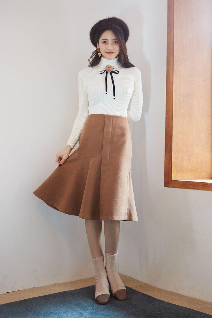 Romantic Desire Flare Skirt CHLO.D.MANON   #cute #flared #skirt #datelook #koreanfashion #kstyle #kfashion #seoul #falltrend