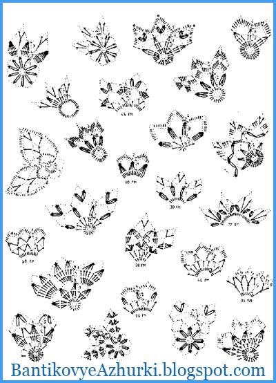 PATTERNS crochet snowflakes for Christmas Interior
