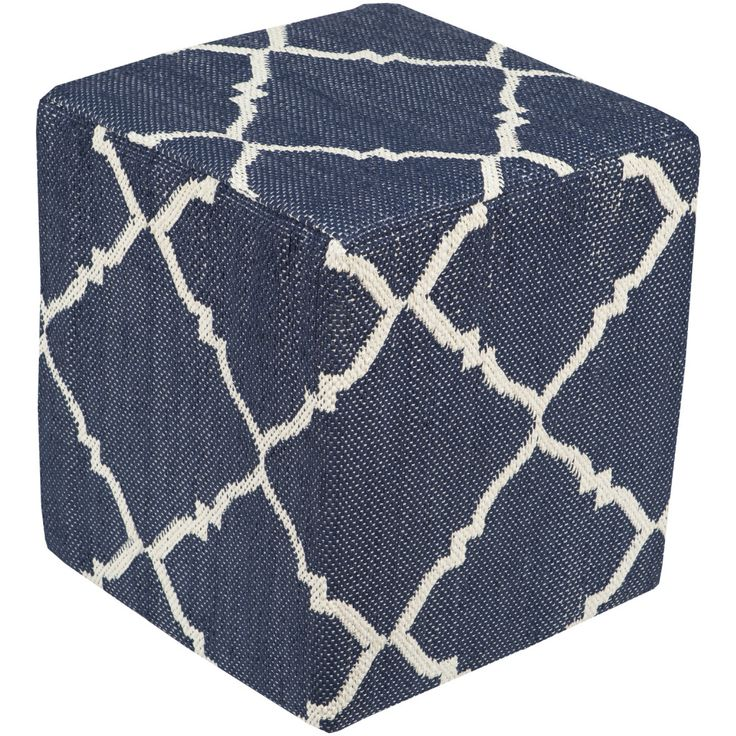 Bedwell Pouf in Blue!