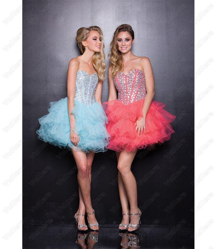 Watermelon Tulle Short Prom Dress