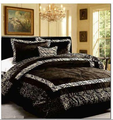 lepord Print Bedroom Ideas | Zebra Print Bedding | Zebra Bedding
