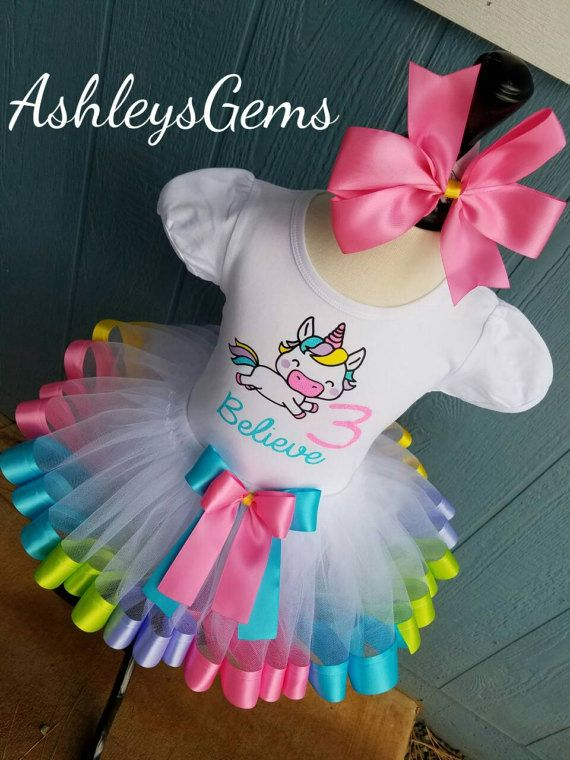 Unicorn BirthdayOutfit, Unicorn Tutu, Unicorn Shirt, Unicorn Party, Unicorn Tutu Dress, Rainbow Unicorn, Baby Unicorn Outfit, Unicorn Dress