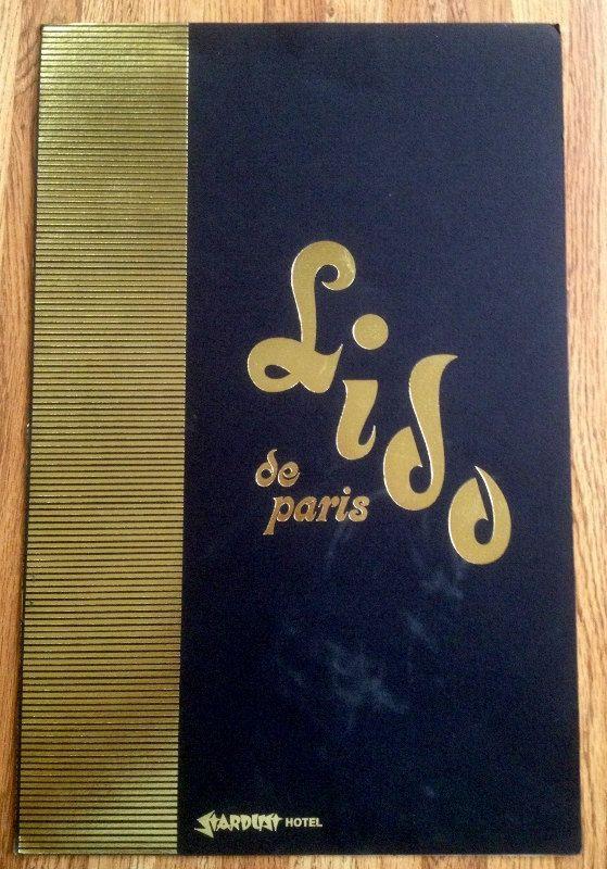 Vintage Stardust Lido de Paris Las Vegas Nevada Menu by esmeelynne