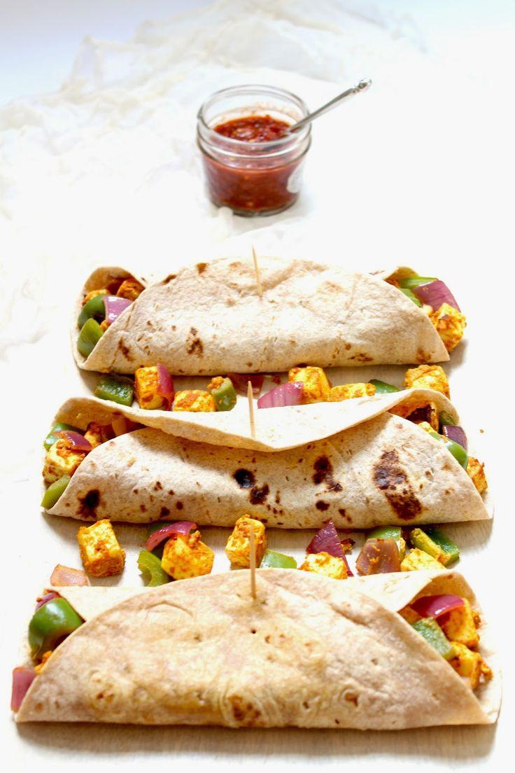 Garam Masala Paneer Tikka Kati Rolls made with Plain Chobani Greek Yogurt.  #paneer #food #indianfood #Zaika  http://zaikaofkensington.com/