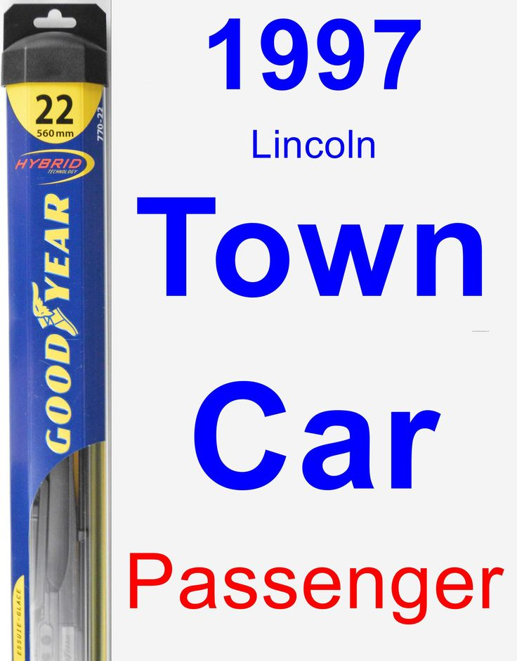 Passenger Wiper Blade for 1997 Lincoln Town Car - Hybrid