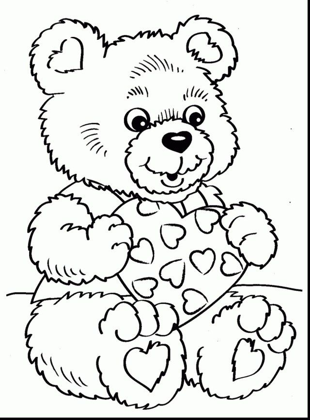 27+ Amazing Photo Of Valentines Day Coloring Pages For Adults -  Albanysinsanity.com Teddy Bear Coloring Pages, Bear Coloring Pages, Valentine  Coloring Pages
