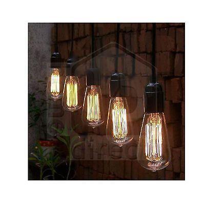 NEW Thomas Edison Vintage Hanging Pendant Restaurant Cafe Light Bulb Lighting