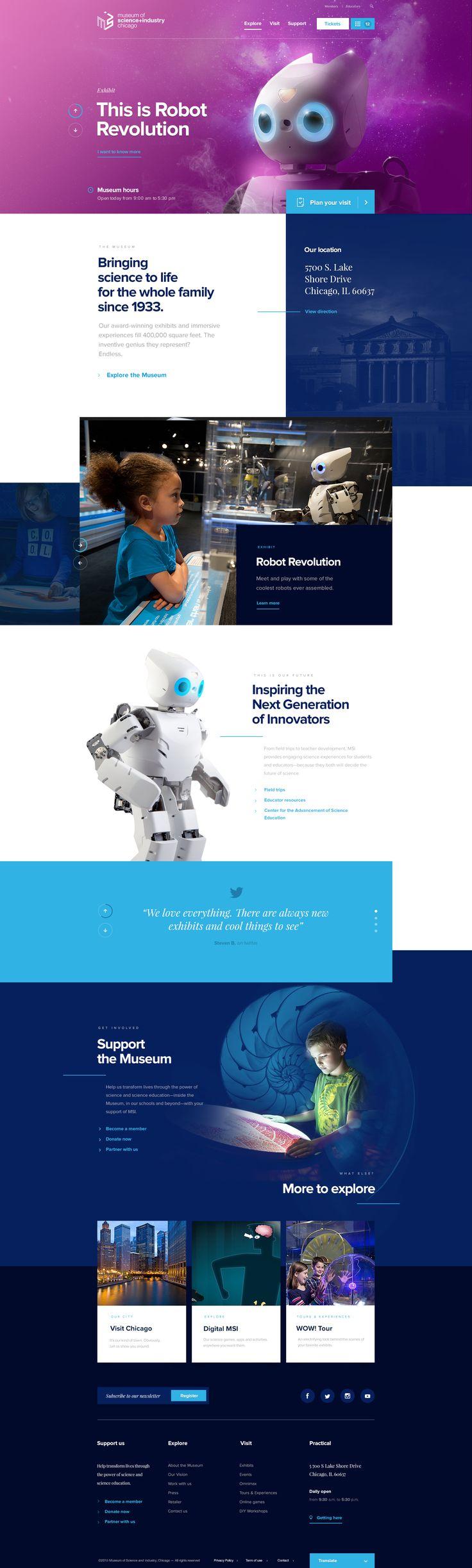 Museumofscienceandindustrychicago homepage dogstudio