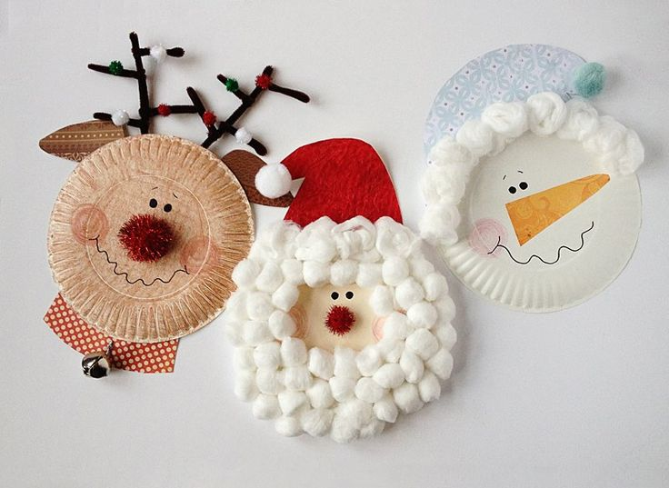 Not only easy but cute too. Another way of making snowman, something kids can do too. All you need are paper plates and pom poms and few other items. You can get all the details here.