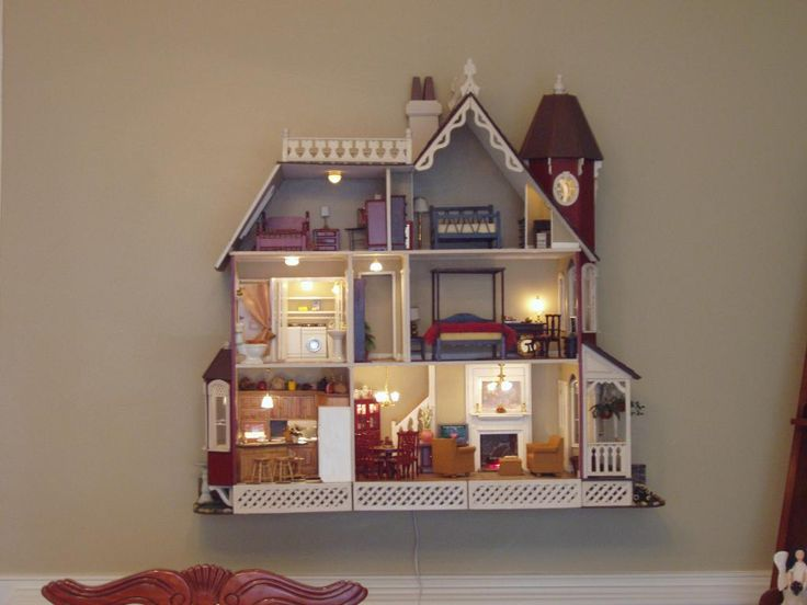 The McKinley, a wall hanging dollhouse kit by Greenleaf Dollhouses ~ Paula O'Neal