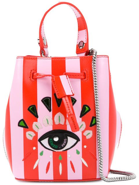 5f0c392db3 Kenzo mini embroidered eye bucket bag | bizarre bags | Bucket Bag ...