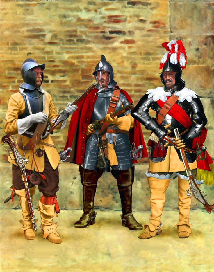 Harquebusier officers, Thirty Years War