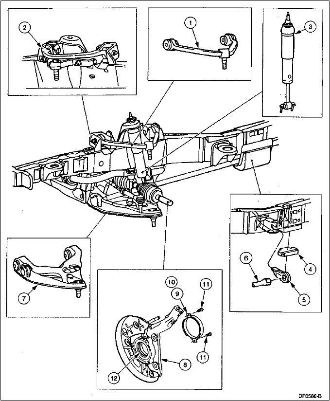 suspensión trasera de la super duty f 250 despiece