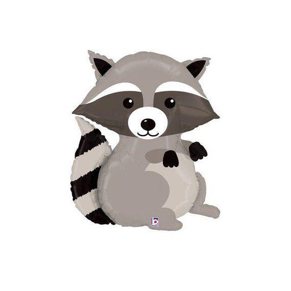 "36/"" Woodland Raccoon Mylar Foil Balloon Party Decorating Supplies"