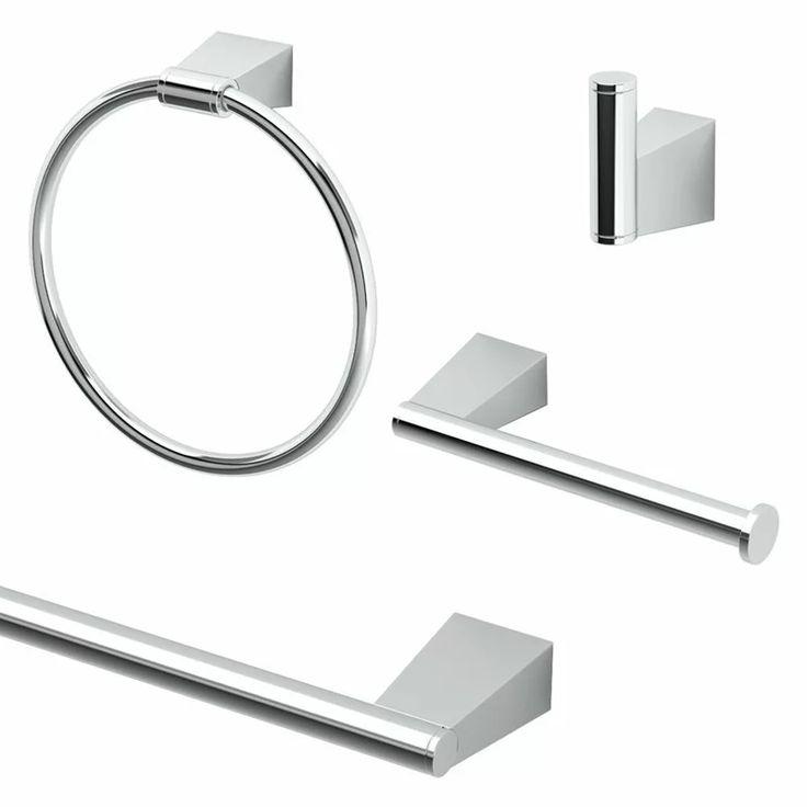 Bleu Cafe 4 Piece Bathroom Hardware Set In 2020 Bathroom Hardware Set Bathroom Hardware Gatco
