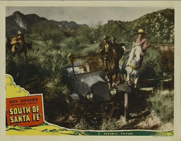"""SOUTH OF SANTA FE - Roy Rogers - George """"Gabby"""" Hayes - Republic Pictures - Lobby Card."""