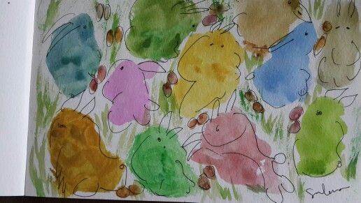 Happy Easter! May Easter Joys be your! #sulenaartspace #watercolor #painting #creative #art #hirameki #draw #colors