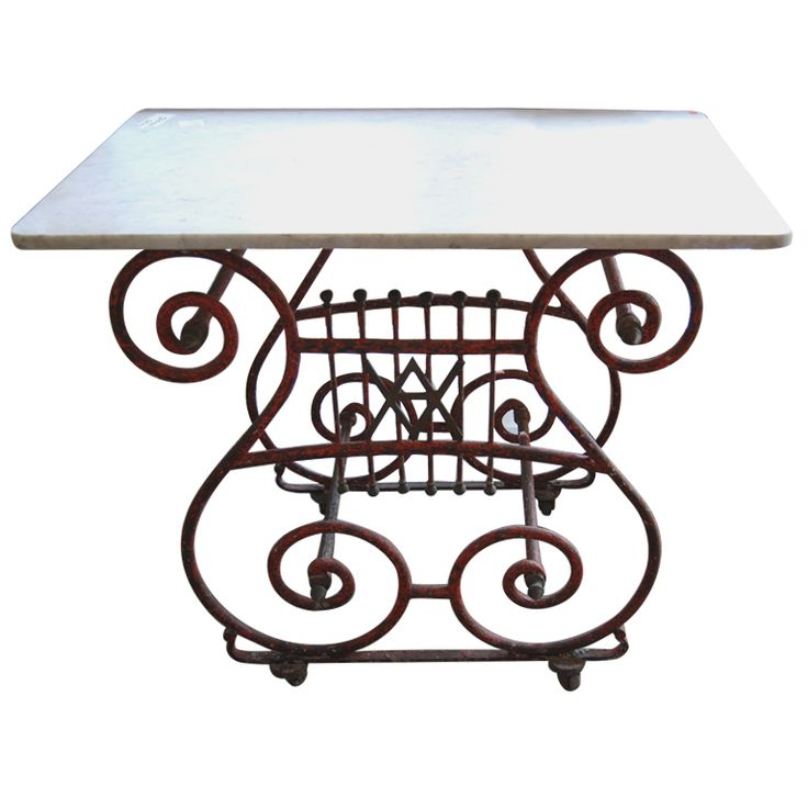 Painted Pastry Table