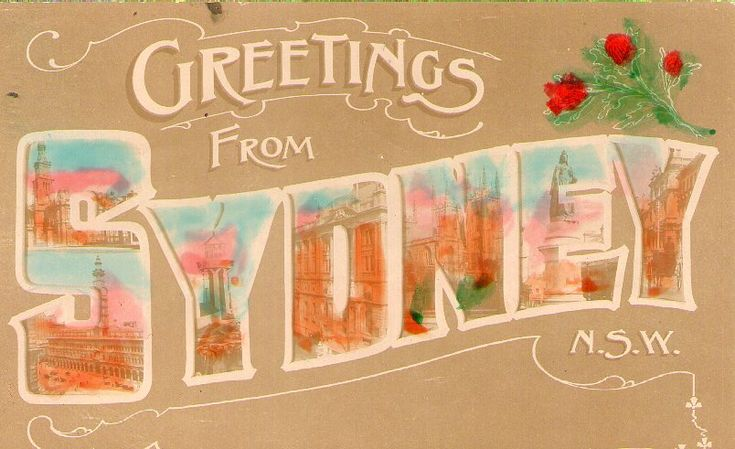 Early 20th Century postcard. Image appears on: 'Welcome to the Public Sydney blog' post.