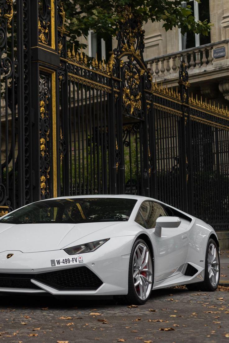 Lamborghini Huracan outside the gates of the Style Estate chateau in Europe.