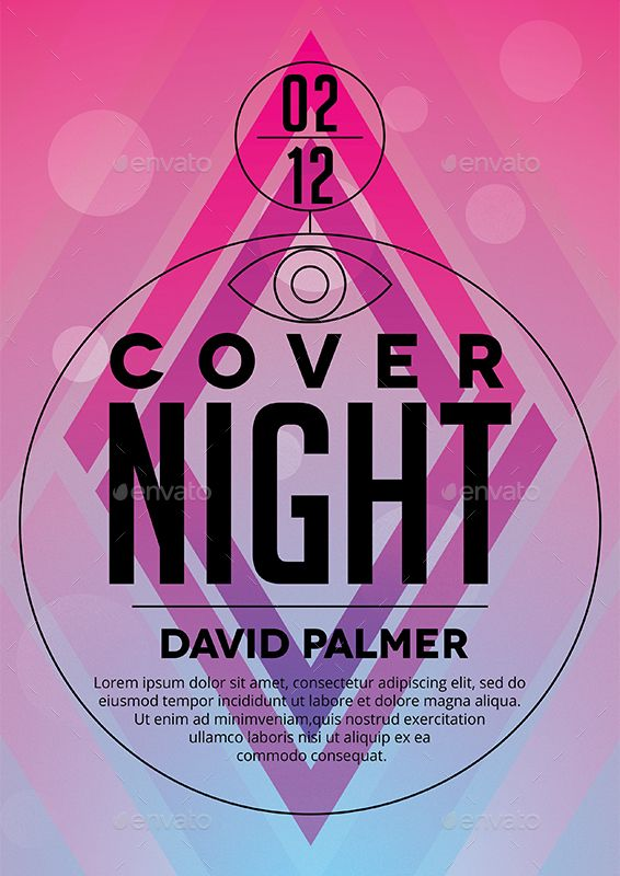 Cover Night Poster Template
