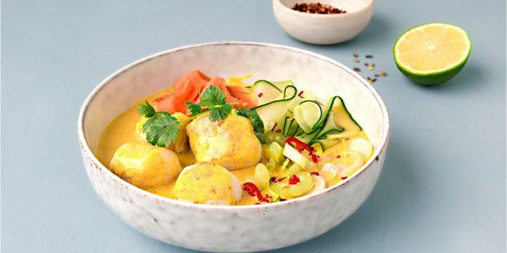 Fiskeboller i gul curry – Berit Nordstrand