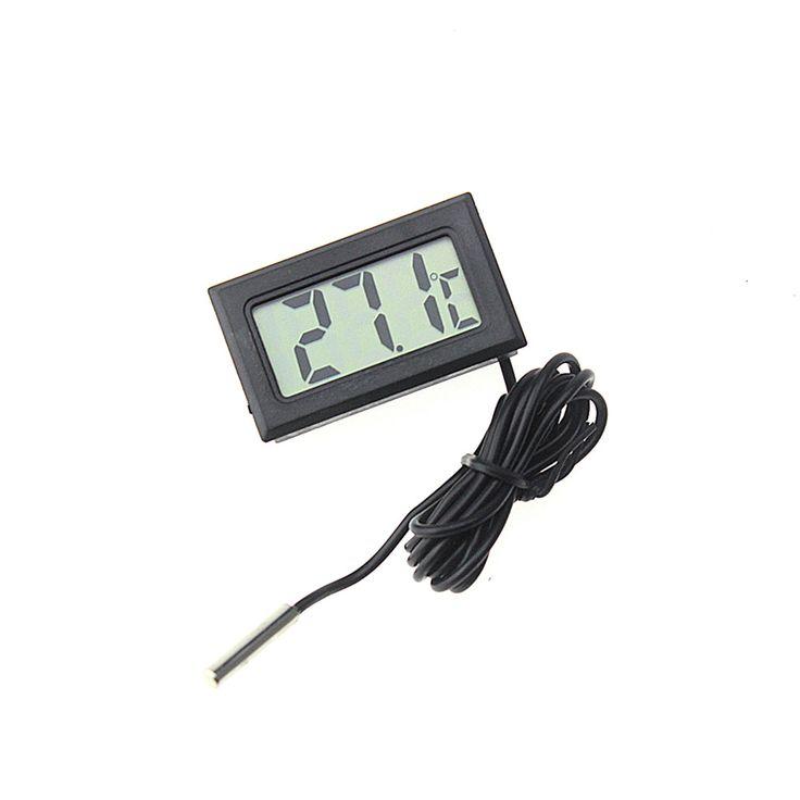 2016 Mini Digital LCD Thermometer Sensor Suhu Freezer Kulkas Termometer untuk kitchen bar penggunaan