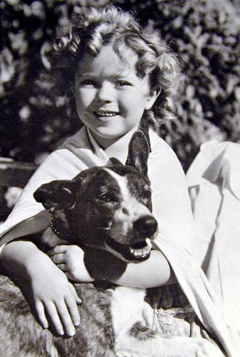 Shirley Temple & a dog